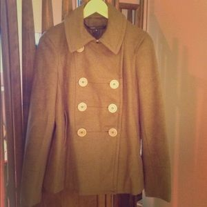 Marc Jacobs coat in olive green boiled wool